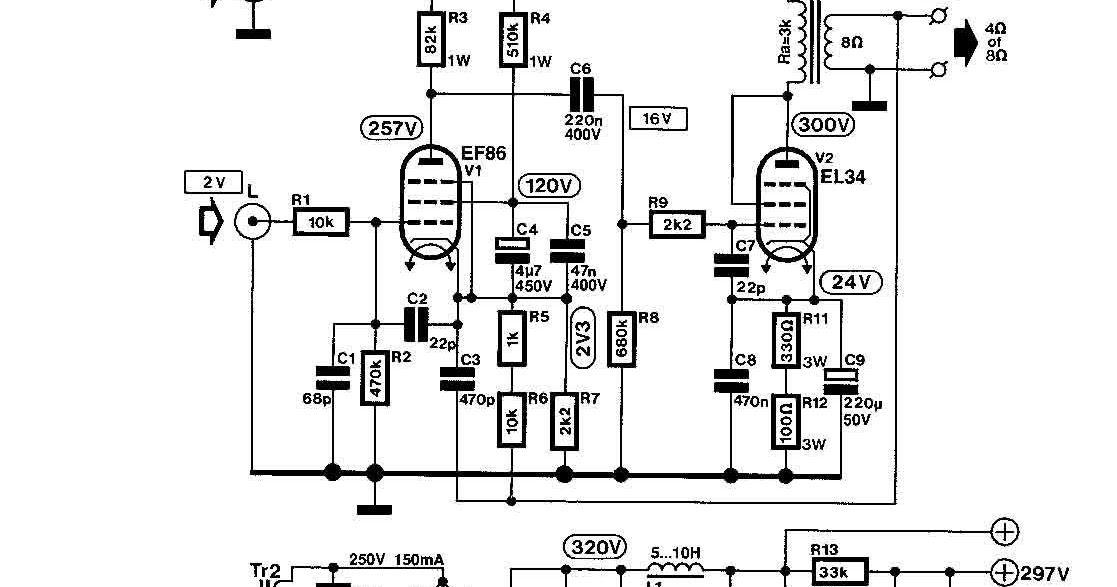 6 Watt EL34 SE Verstrker circuitos in 2018 t Audio