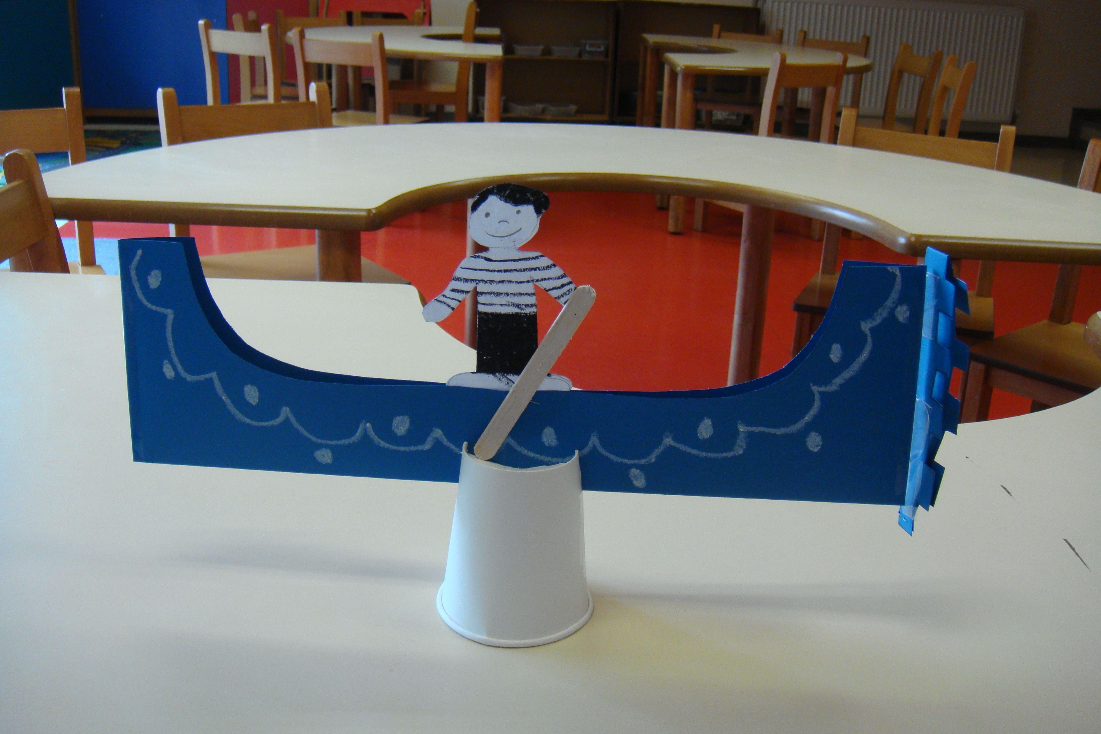 Italian Gondola Craft For Kids