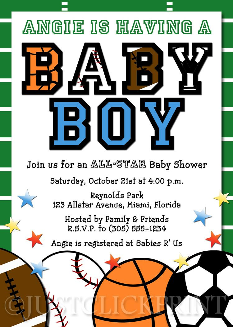 All-Star Baby Shower Invitations | shower invite clip art hd All ...