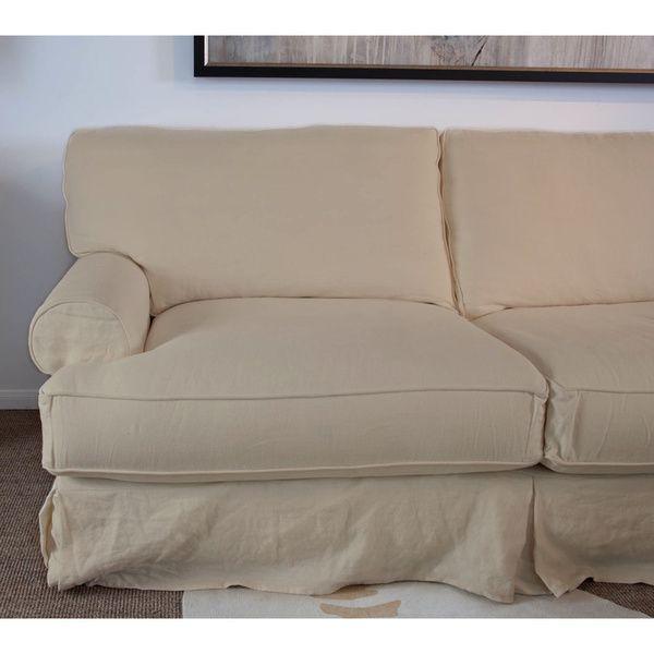 Wondrous Made To Order Hamptons Slipcover Sectional Chase Overstock Inzonedesignstudio Interior Chair Design Inzonedesignstudiocom
