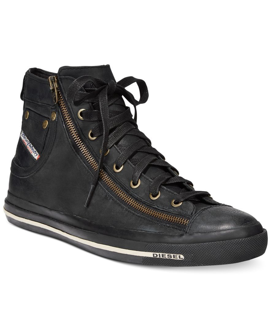 Diesel zip hi-top sneakers under $60 online cheap price top quality low shipping cheap price comfortable for sale fnrlQ