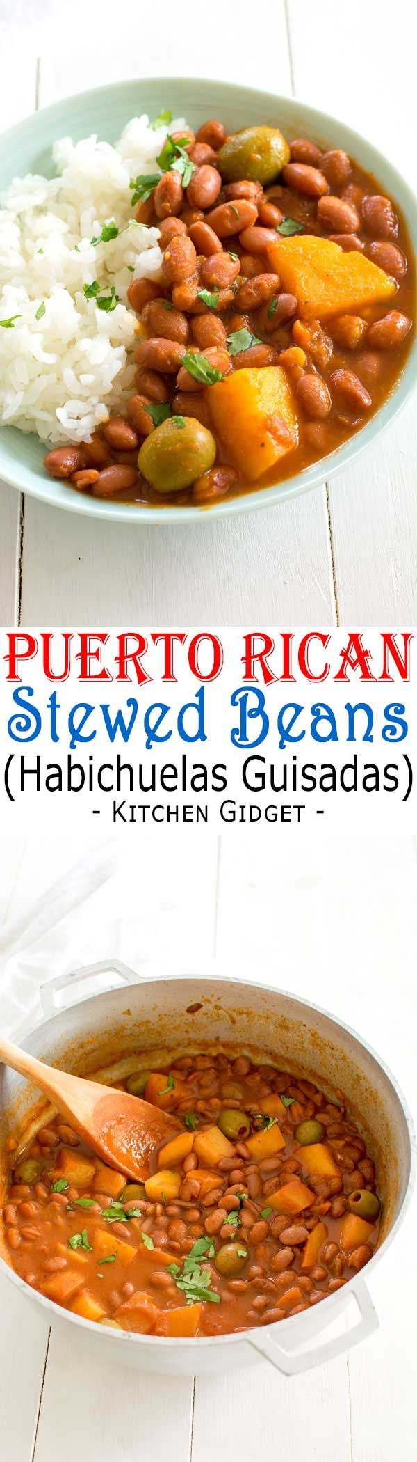 Puerto Rican Rice And Beans Habichuelas Guisadas Easy Recipe For Authentic Puerto Rican Style Boricua Recipes Mexican Food Recipes Rice Recipes For Dinner