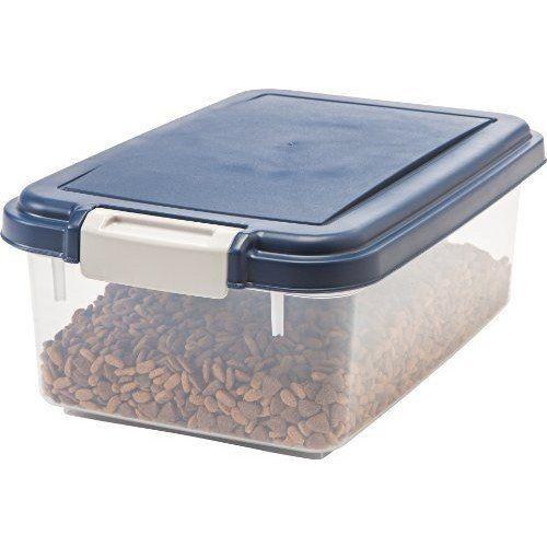 c0ef24137239 IRIS Airtight Pet Food Storage Container for Treats, 12 Quart, Navy ...