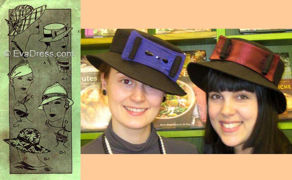 1933 Set of Four Ladies' Hats