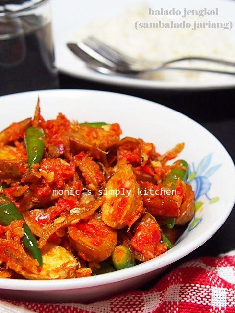 Sambalado Jariang Jo Teri Resep Masakan Makanan Resep Makanan
