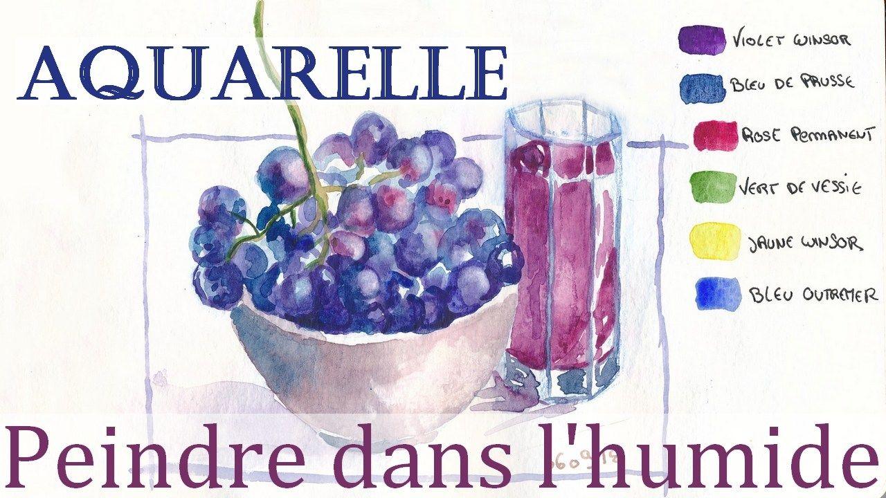 Aquarelle Peindre Humide Sur Humide Aquarelle Cours De
