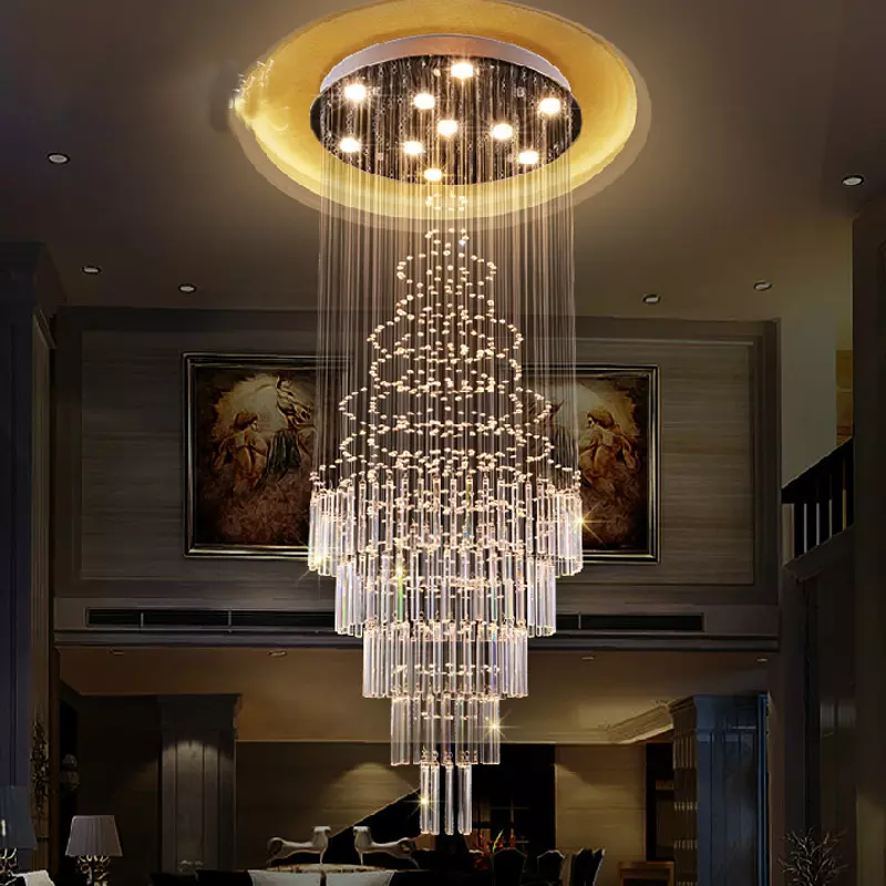 Floating Castle Round Raindrop Crystal Chandelier Ceiling Lights Indoor Chandelier Crystal Ceiling Light Modern Ceiling Lamps