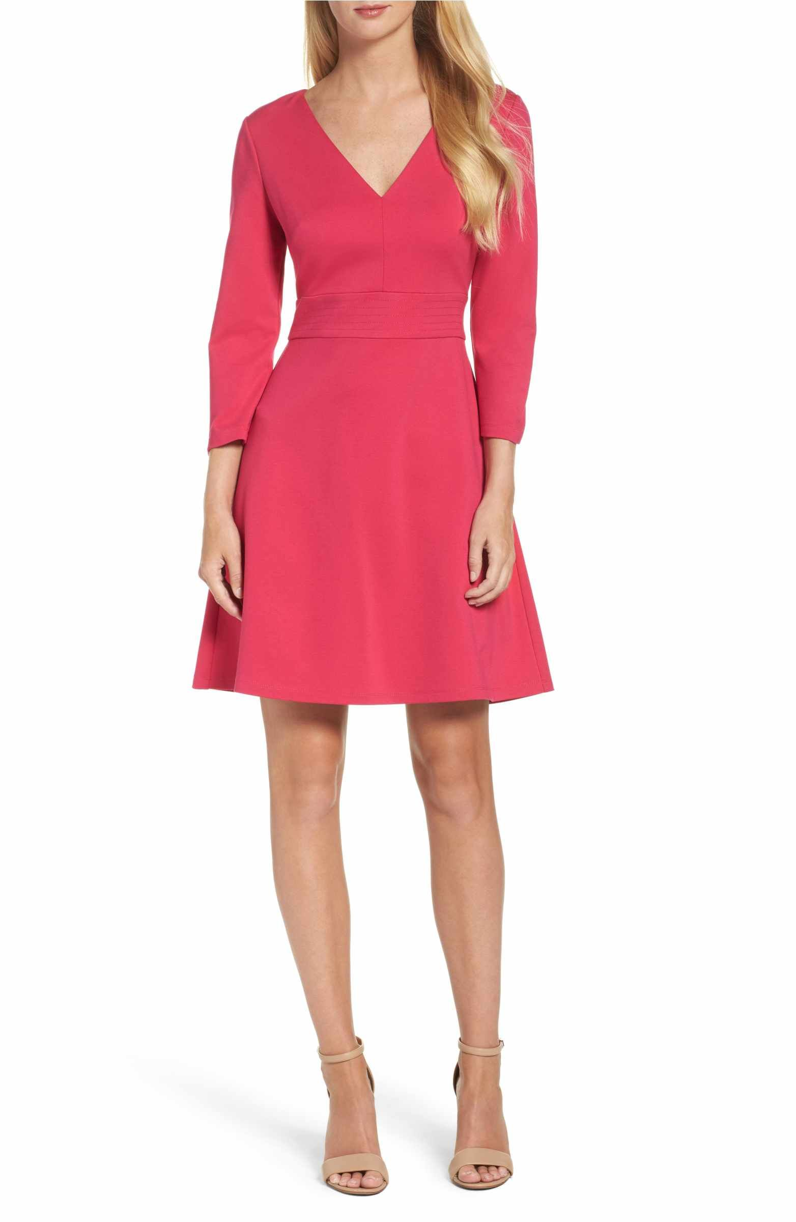 Main image eliza j fit u flare dress work pinterest fit