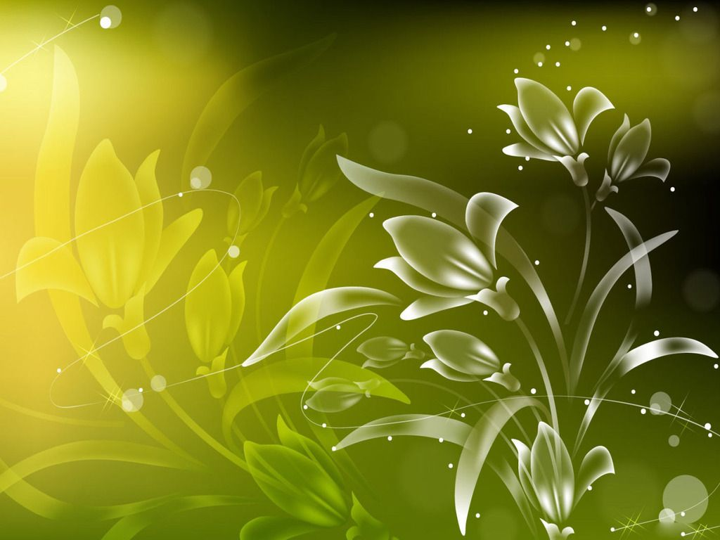 Free Light Green Vector Flowers Abstract Backgrounds Wallpaper