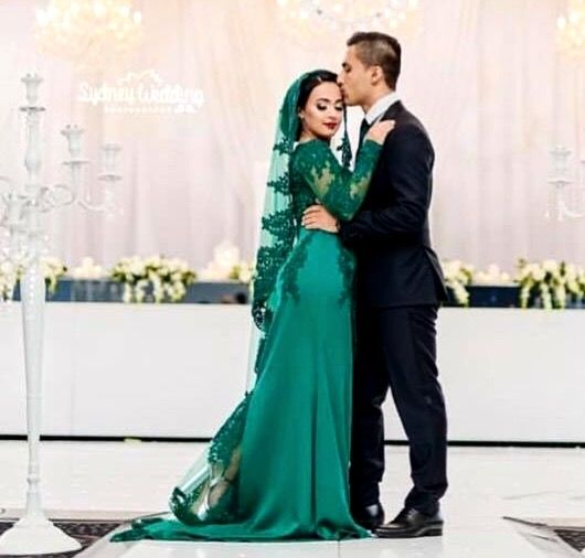Afghan Wedding Gowns: Afghan Wedding# Nekah Green Dress In 2019