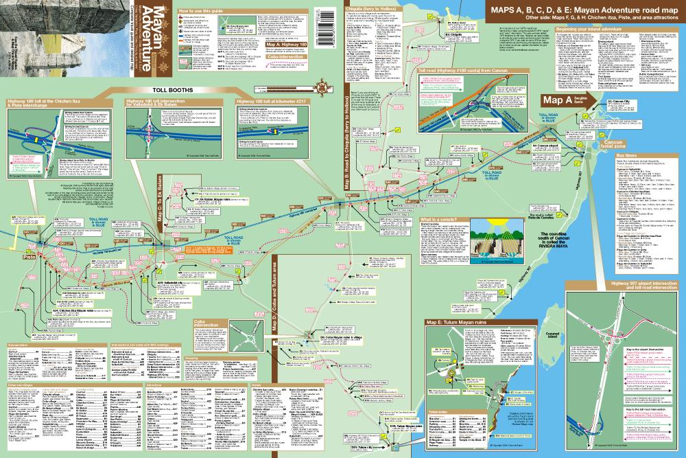 MapChick Chichen Itza Mayan Adventure Map And Travel Guide - Chichen itza map