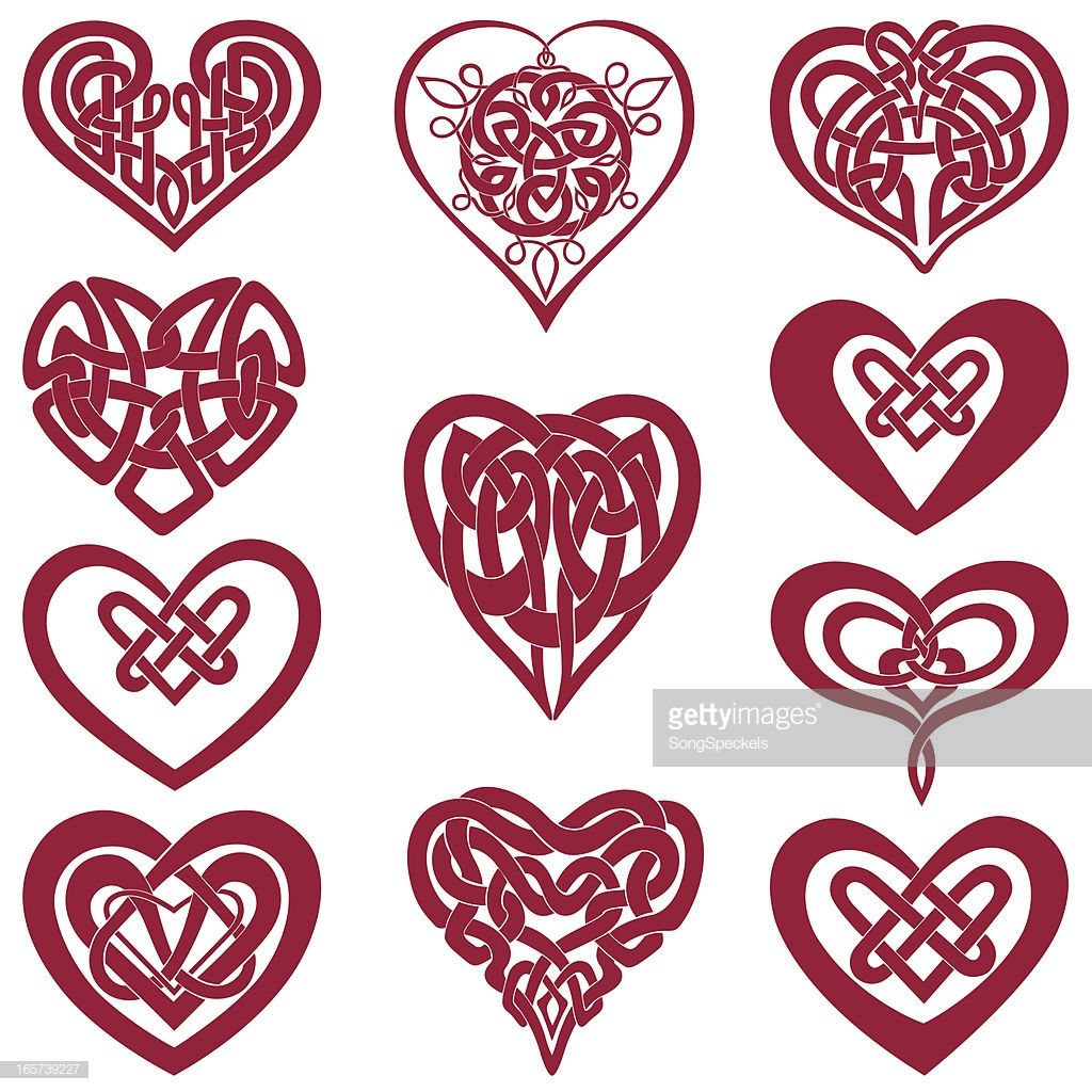 Download Celtic Knot Hearts Vector Art | Getty ... | Celtic heart ...