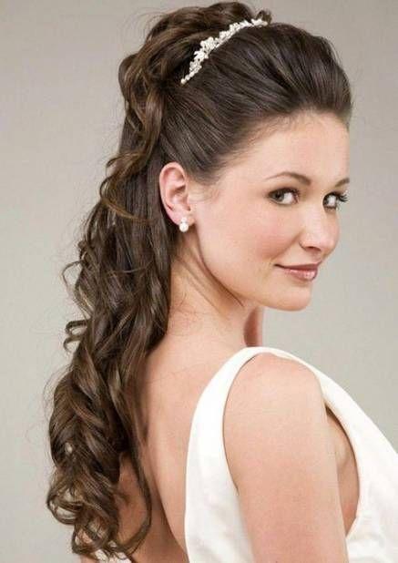 Wedding hairstyles for long hair with headband braided ponytail 65 ideas   Long hair wedding ...