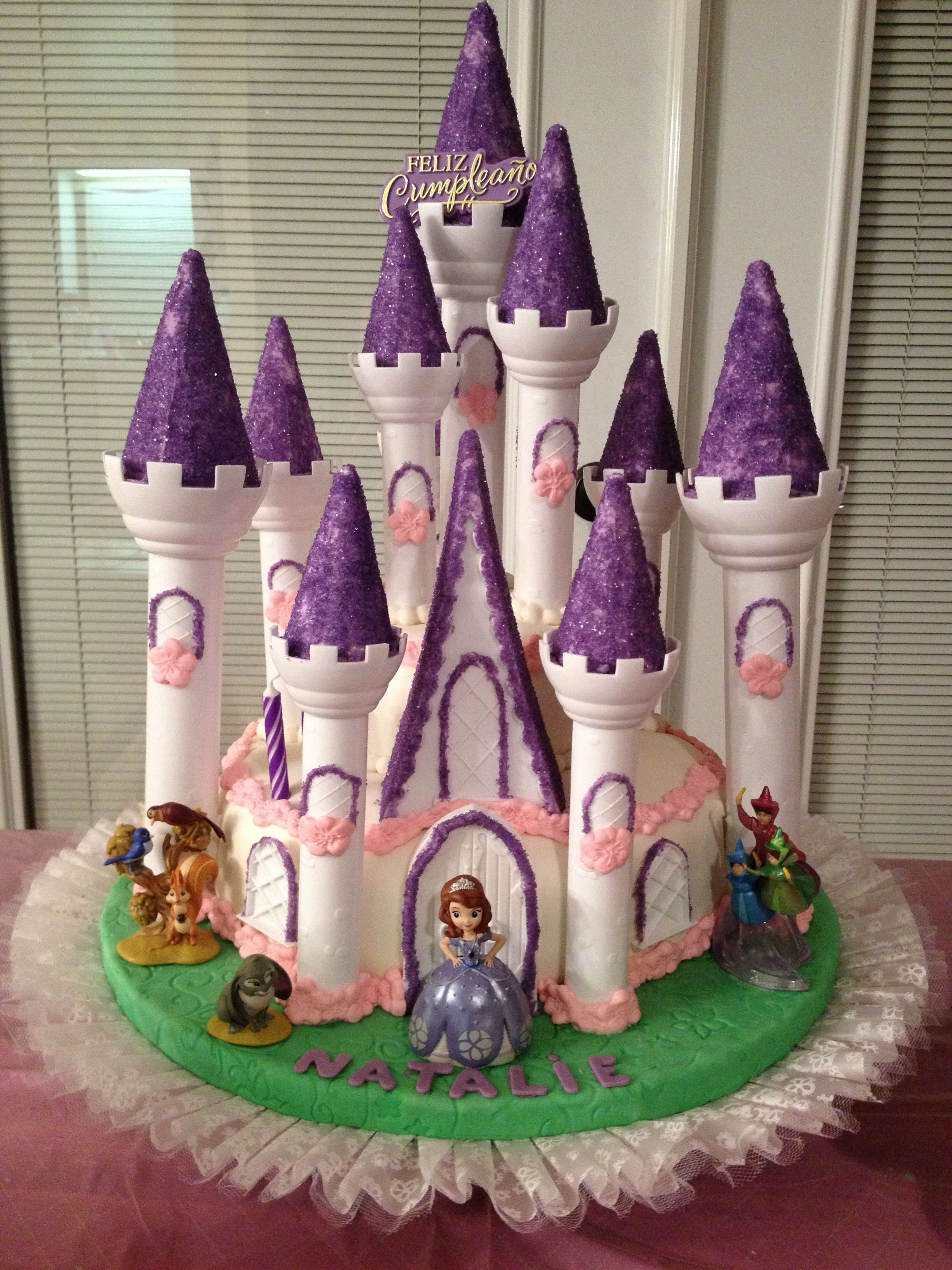sofia the first castle cake i made for my daughter's 2nd birthday