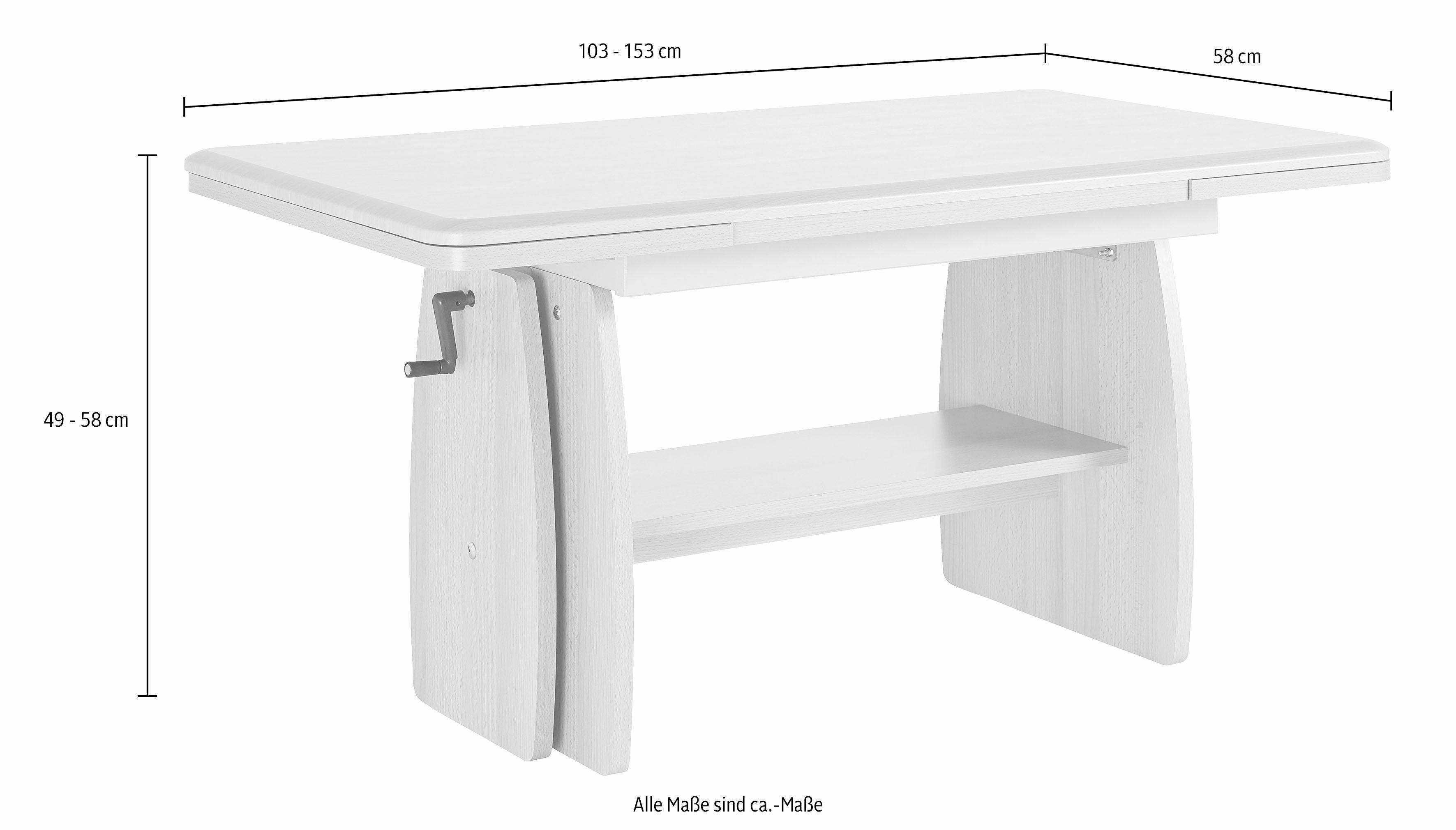 Couchtisch Weiß, Höhenverstellbar Mit Ausziehfunktion, Yourhome Jetzt  Bestellen Unter: Https://moebel.ladendirekt.de/wohnzimmer/tische/couchtische/?uidu003d  ...