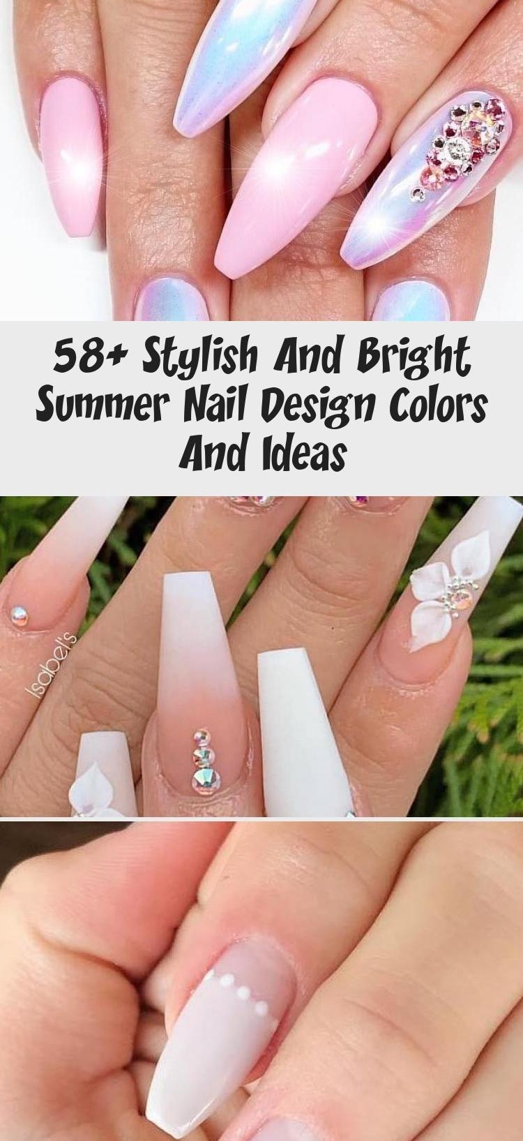 58+ Stylish And Bright Summer Nail Design Colors And Ideas – Nail