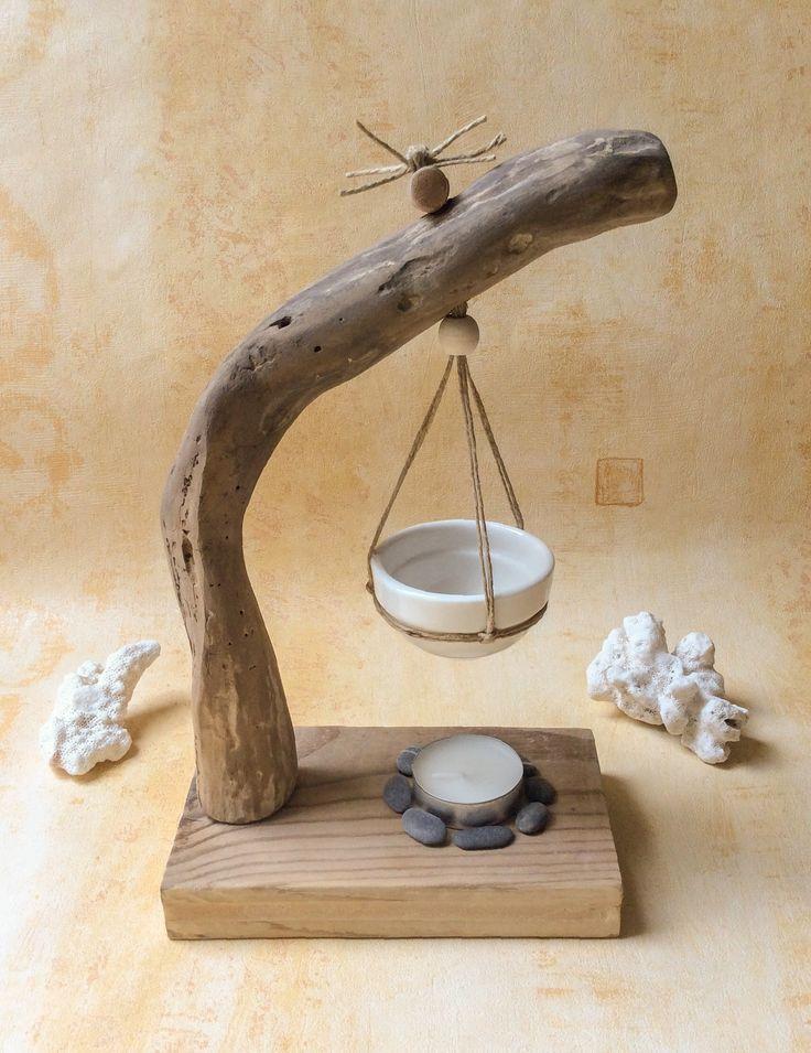 Verbrennungen hängen Parfüm in Treibholz. Auf meiner Website: www.atelierdecorinne.art #boisflotté