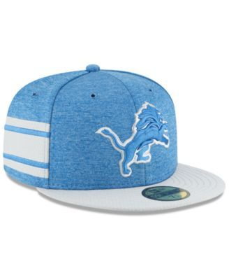 6e560365e3229 New Era Detroit Lions On Field Sideline Home 59FIFTY Fitted Cap - Blue 7 1 2
