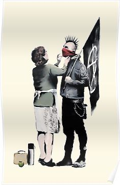 Banksy Anarchists Mother Poster Banksy Art Gallery Wrap Canvas
