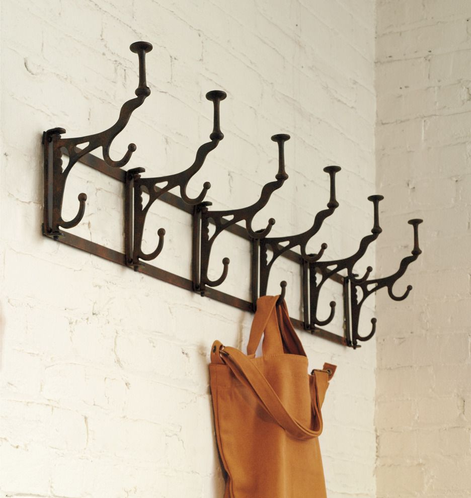 Folding Hook Rack 4 Hooks Hook Rack Wall Mounted Coat Rack Wall Art Wallpaper