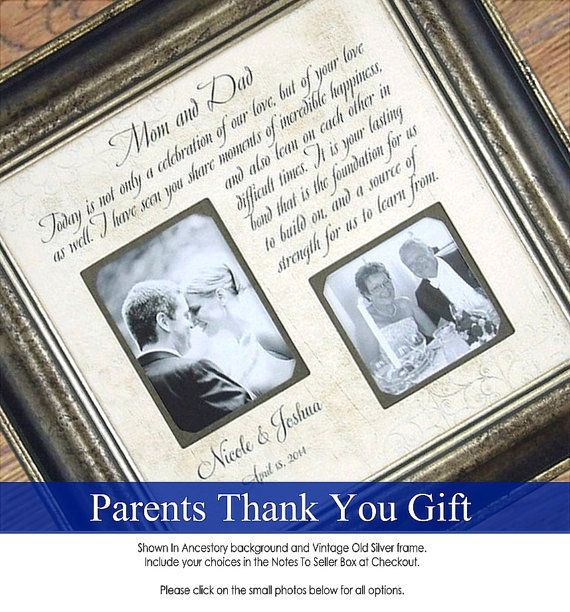 Wedding Frame Sign MOM DAD, Wedding Gift to Parents, Personalized ...