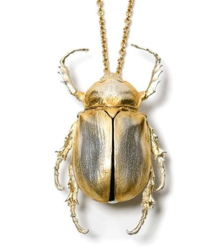 Philippa Holland Statement Beetle Insect Necklace / Storage Box