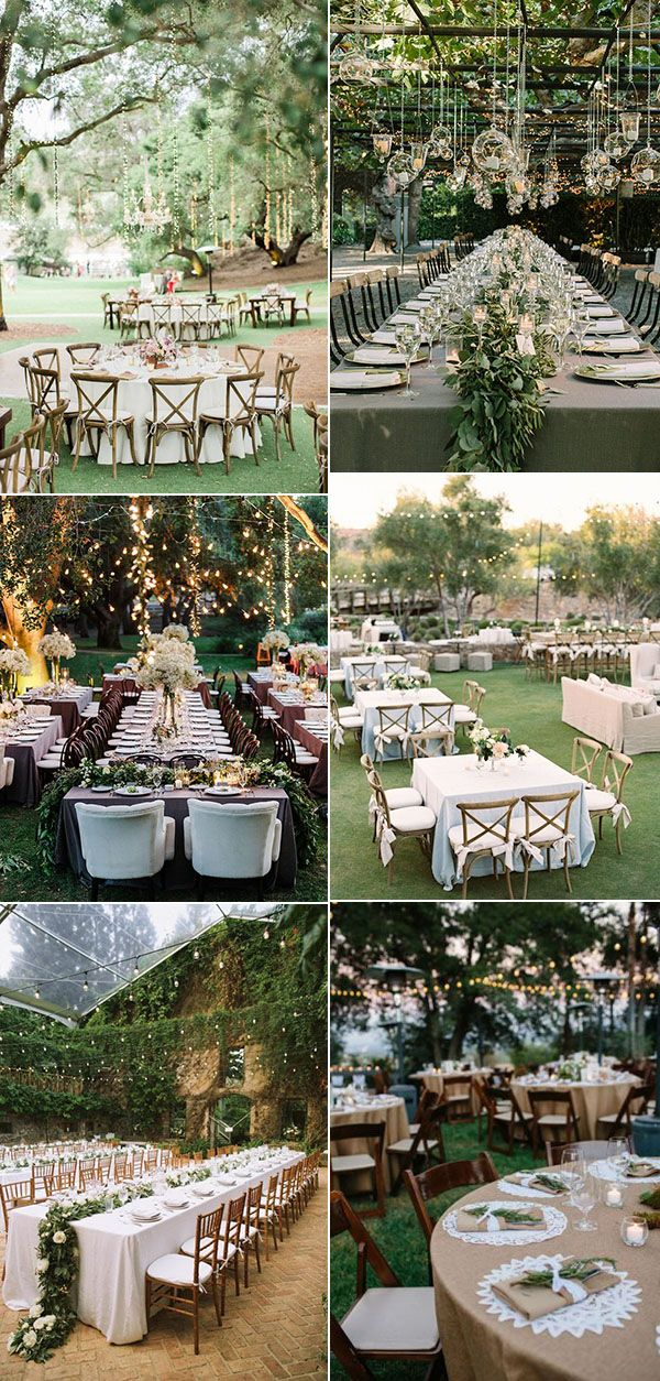 Photo Of Garden Wedding Reception