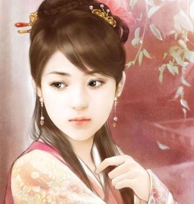 Chinese Hanfu Hairstyle sample 1  Post card art