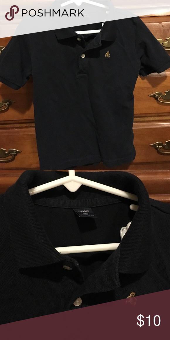 Gap boys polo shirt size 4! Navy blue boy polo shirt! Very cute! Size 4 GAP Shirts & Tops Polos