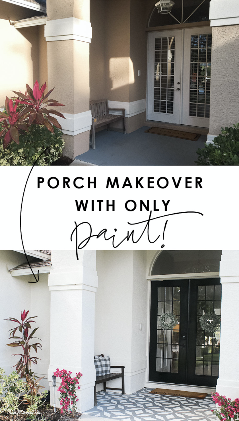 Porch Makeover I Painted The Walls Doors And Floor Porch Makeover Front Porch Makeover Doors And Floors