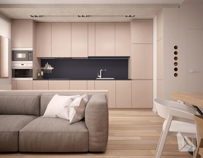 Salon Z Aneksem Kuchennym Projekt Dream Design Foorni Pl Salon Kuchnia Zabudowa Jadalnia Projekt Interior Home Kit Home Decor Home Kitchen Decor