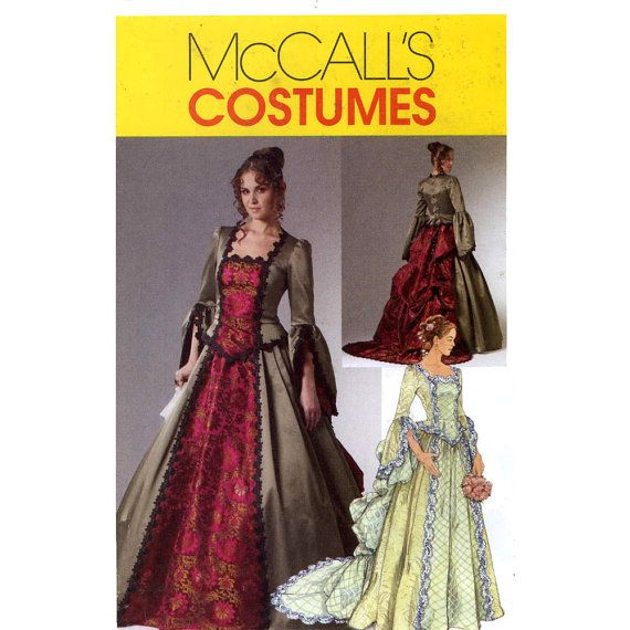 Renaissance Wedding Dress Costume History Mccall S By Heychica: Victorian Dress Wedding Gown Costume McCalls M6097 Sewing