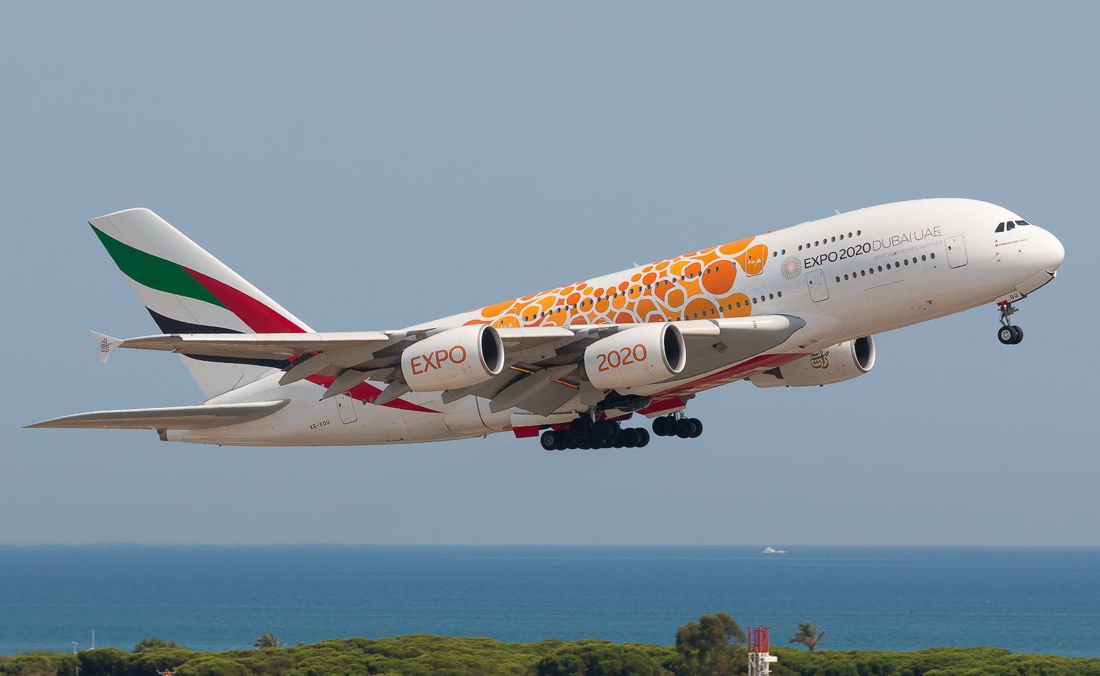 Emirates Airbus A380 861 Expo 2020 Dubai Orange Livery Emirates Airbus Expo 2020 Expo