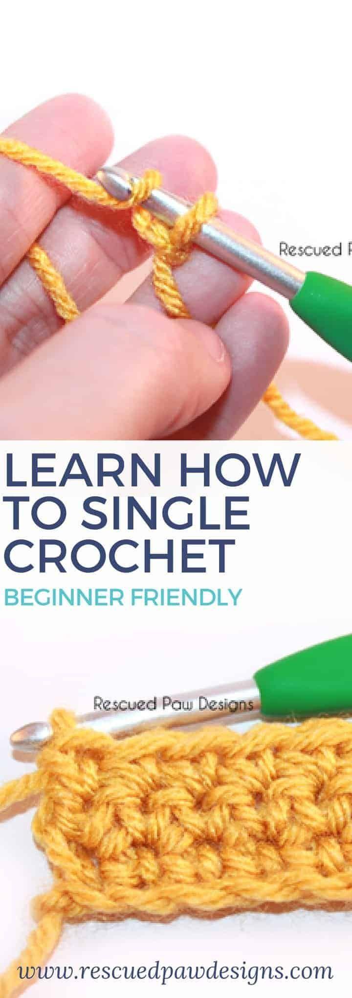 Single Crochet Stitch Tutorial - Easy Crochet #singlecrochet