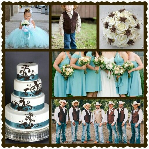 Rustic Wedding Blue And Brown Country
