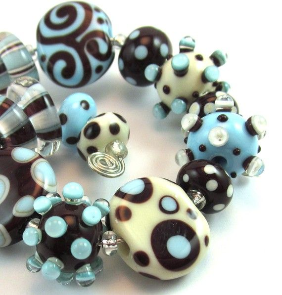 Beacon Hill Lampwork Bead Set - Chestnut Ridge Designs/Laura Critchfield