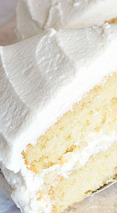 Buttermilk Vanilla Cake Recipe From Scratch Recipes Pinterest