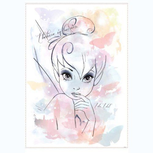 RoomMates RMK2377GM Disney Fairies I Believe in Fairies Tink Watercolor Graphic Peel and Stick Giant Wall Decal
