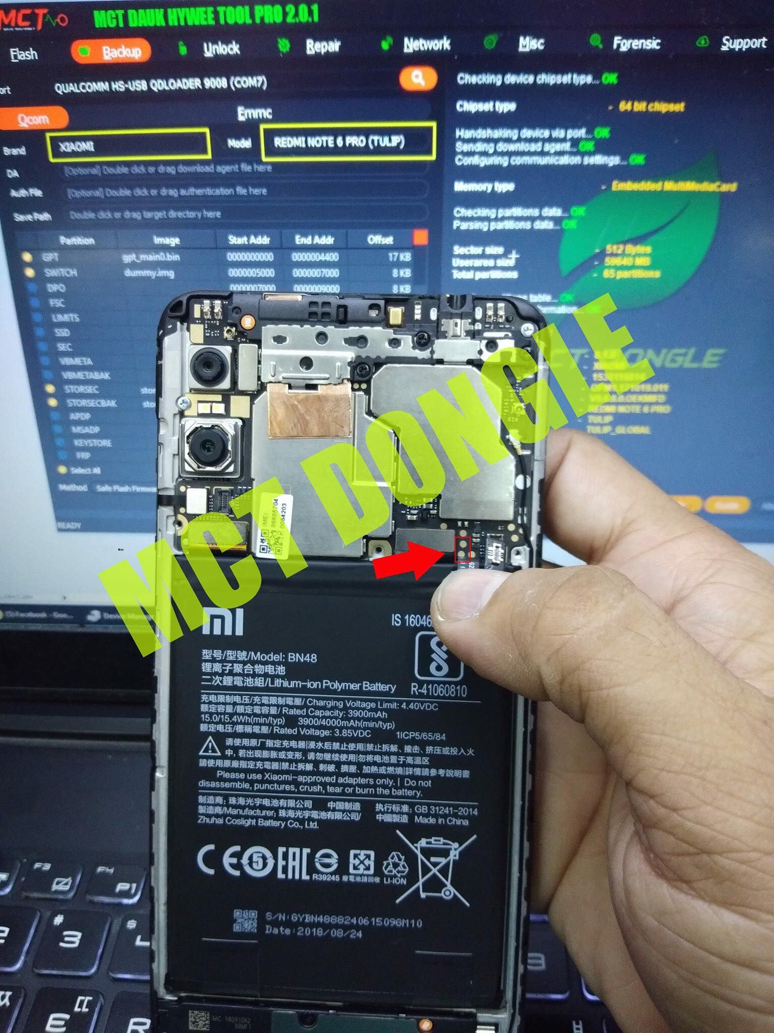 This Step Is On How To Unbrick And Enter Download Mode Edl On Xiaomi Redmi Note 6 Pro Device You Ll Need To Disassemble Your Device An In 2021 Notes Pro Xiaomi