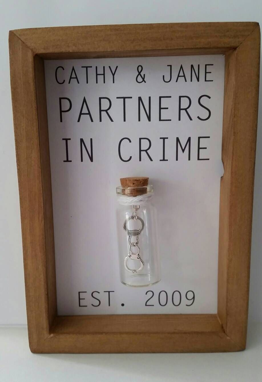 Personalised Friend Gift Best Gifts For Friends Unique Personalise With Your Names And Date By Undertheblossomtree On