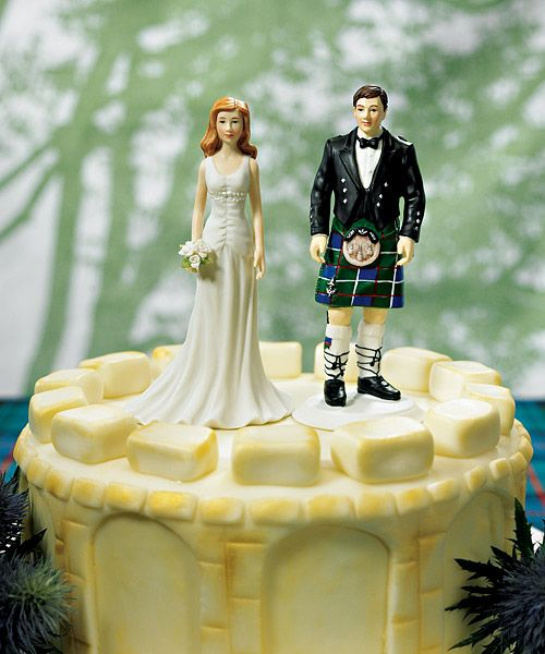 Groom In Kilt Mix And Match Cake Topper