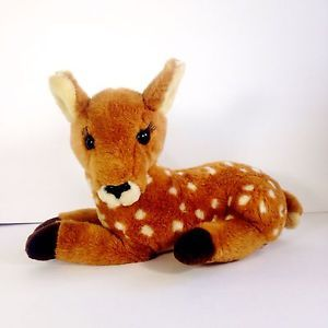 Vintage Dakin 1989 Doe Deer Fawn Spotted Plush Lashes | eBay