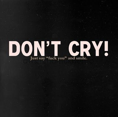 dont cry @Leah Short
