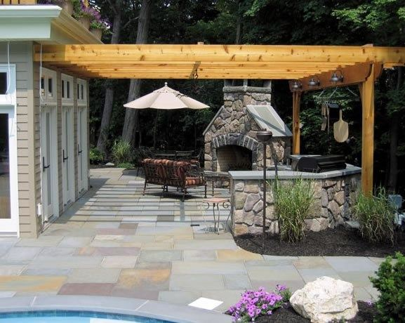 Pergola Over Grill Pergola And Patio Cover Harmony Design Group Westfield,  ...