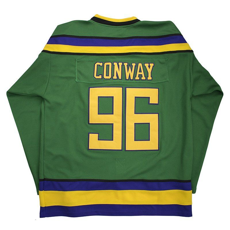 Charlie conway 96 mighty ducks jersey in 2020 charlie
