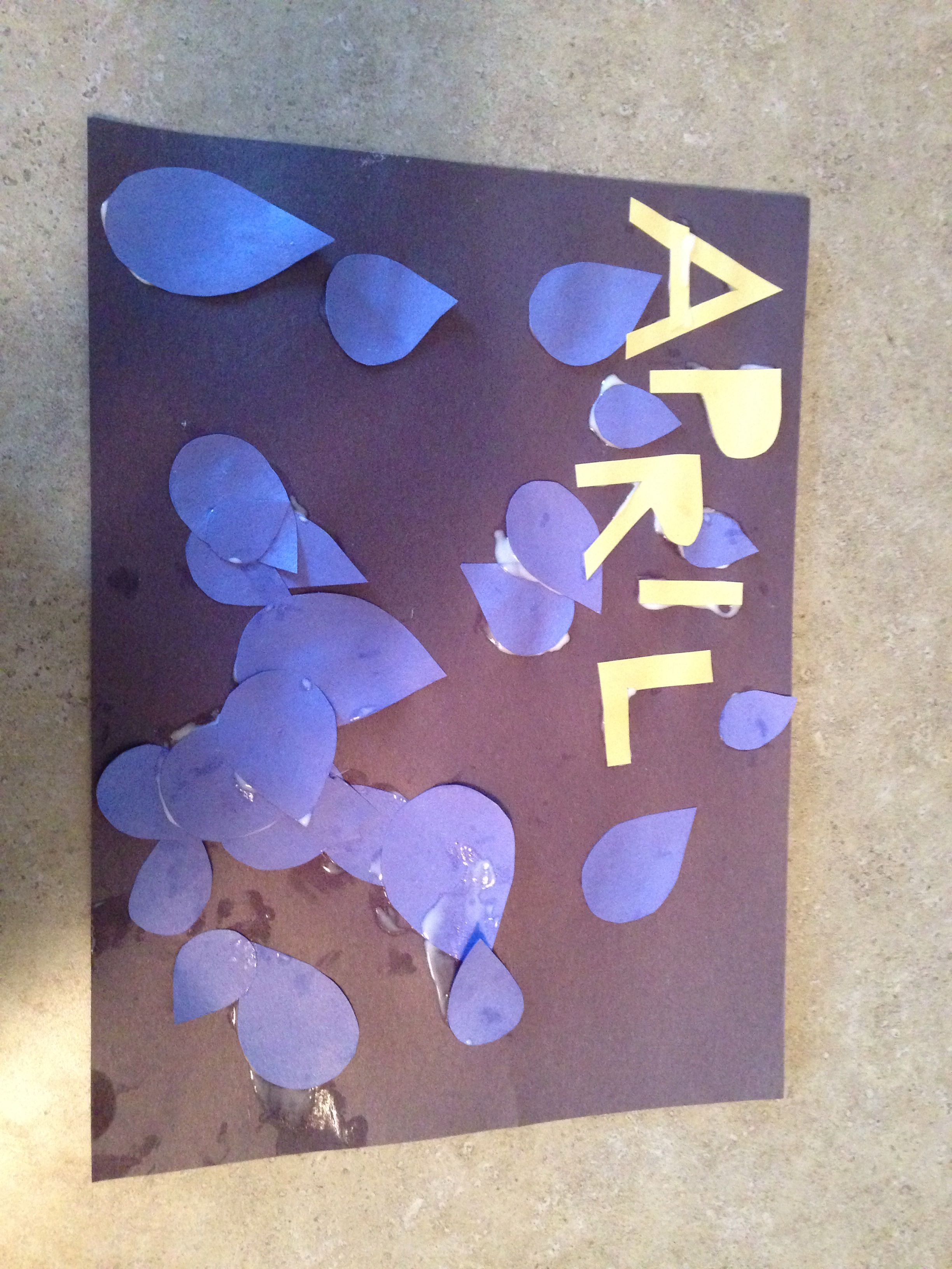April Showers Craft For Toddlers