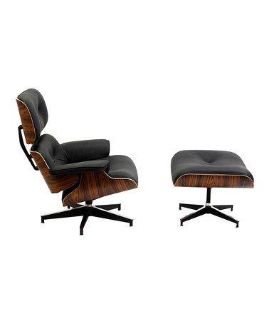 Faux Eames Is Still Pretty Great Black Palisander Eaze Lounge Chair Ottoman By Modway