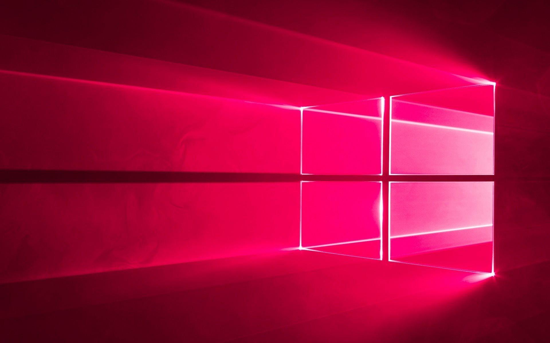 Windows 10 Pink Neon Logo Operating System Windows Plano De Fundo Pc Planos De Fundo Walpaper Para Pc