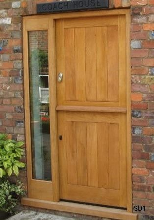 Oak Stable Door Solid Wood No Glass Stable Door Horse Stalls Doors Front Door Handles