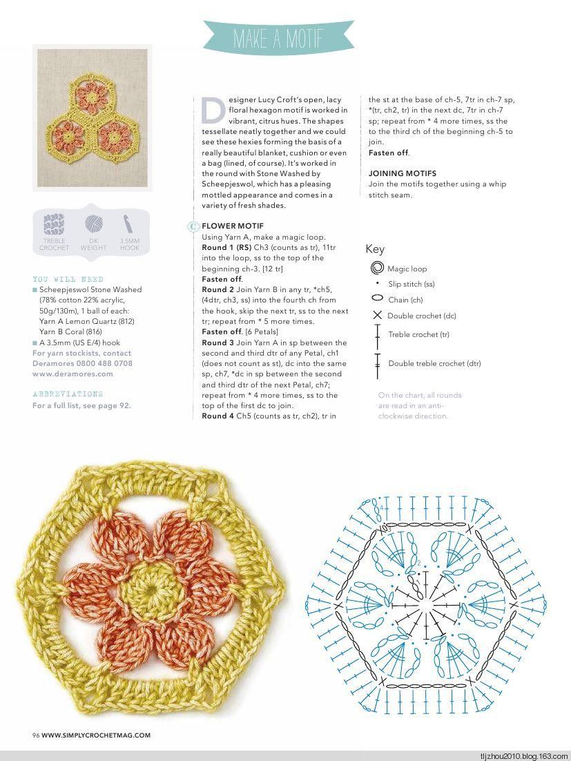 Simply Crochet No28 2015 - 紫苏 - 紫苏的博客 | Diagramas crochet ...